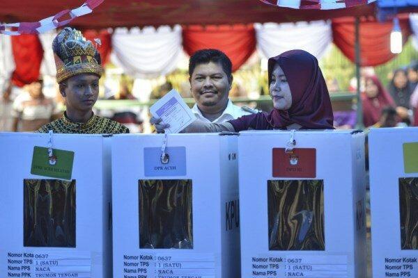 اندونزی شاهد برگزاری انتخابات ریاست جمهوری است