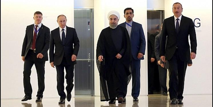 روحانی، پوتین و علی اف برای سومین بار دور هم جمع می شوند