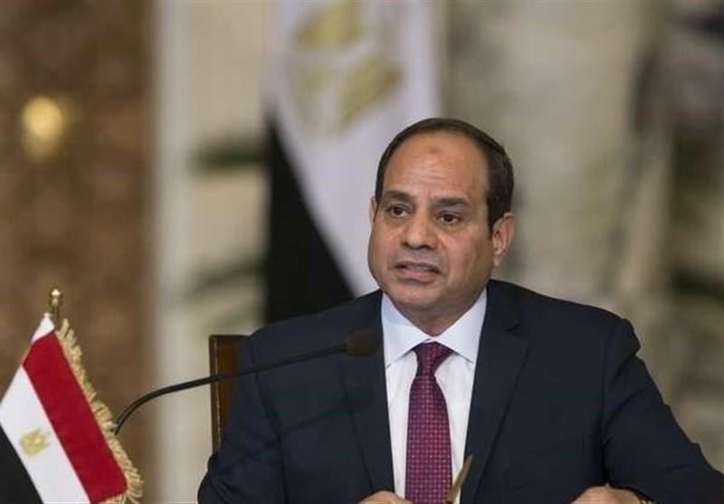 مصر، بازدید السیسی از نیروهای نظامی مستقر در مرز با لیبی