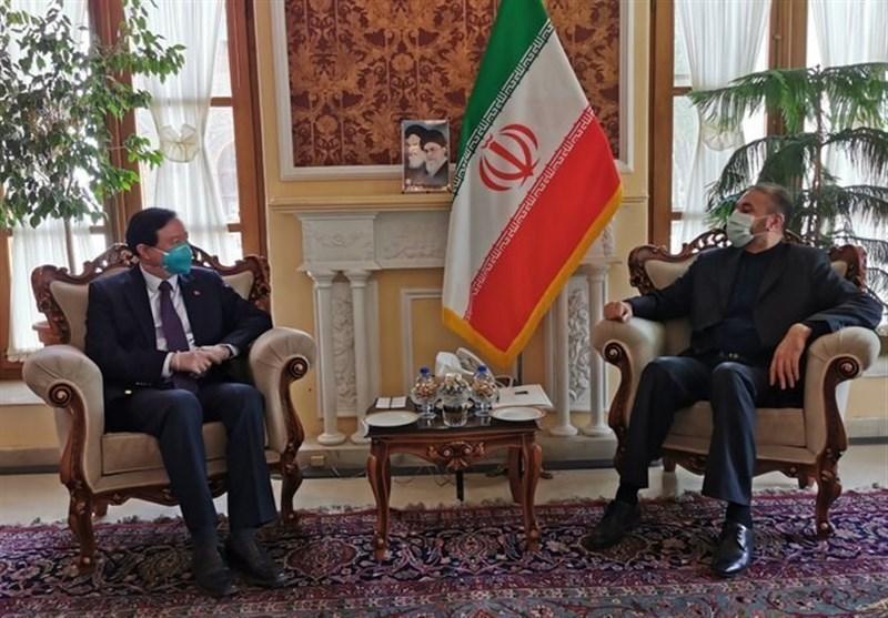 ملاقات سفیر چین با امیر عبداللهیان