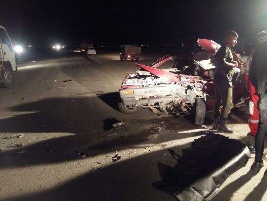 14 مصدوم در پی تصادف زنجیره ای 15 خودرو در اتوبان تهران - قزوین