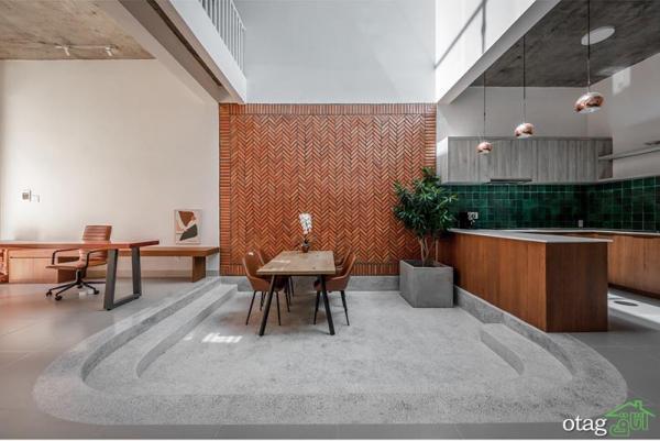 طرح خانه 200 متری با چیدمان کامل در پلان های باریک و مستطیلی