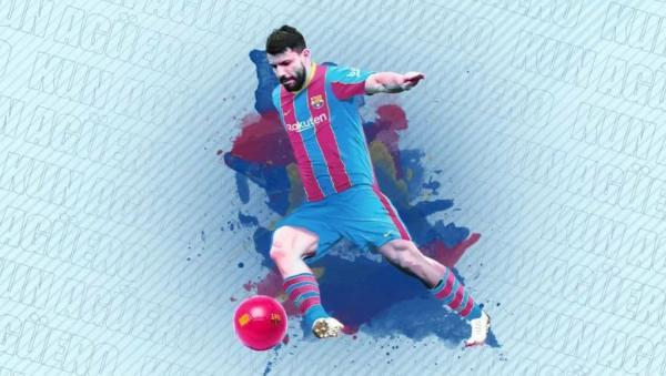 سرخیو آگوئرو به بارسلونا پیوست